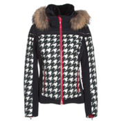 Descente Raven Womens Insulated Ski Jacket, Chidori White-Black-Electric R, medium
