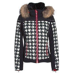 Descente Raven Womens Insulated Ski Jacket, Chidori White-Black-Electric R, 256