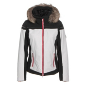 Descente Raven Womens Insulated Ski Jacket, Super White, medium