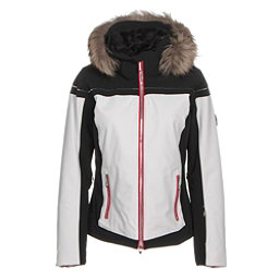 Descente Raven Womens Insulated Ski Jacket, Super White, 256