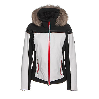 Descente Raven Womens Insulated Ski Jacket, Super White, viewer