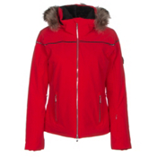 Descente Raven Womens Insulated Ski Jacket, Electric Red, medium