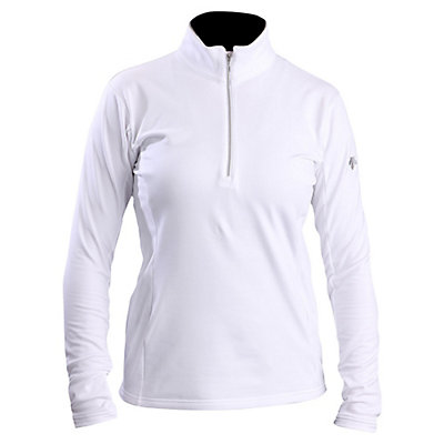Descente Bailey T-Neck Womens Mid Layer, Super White, viewer