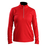 Descente Bailey T-Neck Womens Mid Layer, Electric Red, medium
