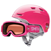 Smith Zoom Jr. & Sidekick Combo Kids Helmet 2017, Pink Sugarcone, medium