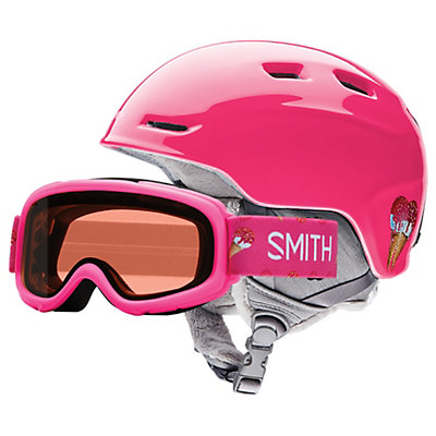 Smith Zoom Jr. & Sidekick Combo Kids Helmet 2017, Pink Sugarcone, viewer