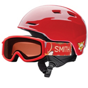 Smith Zoom Jr. & Sidekick Combo Kids Helmet, Fire Animal Kingdom, medium