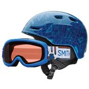 Smith Zoom Jr. and Gambler Combo Kids Helmet 2017, Lapis Toolbox, medium
