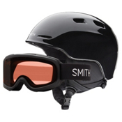 Smith Zoom Jr. and Gambler Combo Kids Helmet 2017, Black, medium