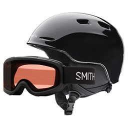 Smith Zoom Jr. and Gambler Combo Kids Helmet, Black, 256