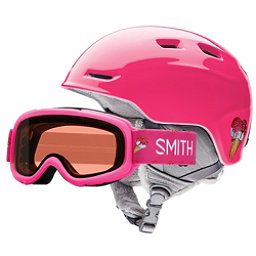 Smith Zoom Jr. and Gambler Combo Kids Helmet, Pink Sugarcone, 256