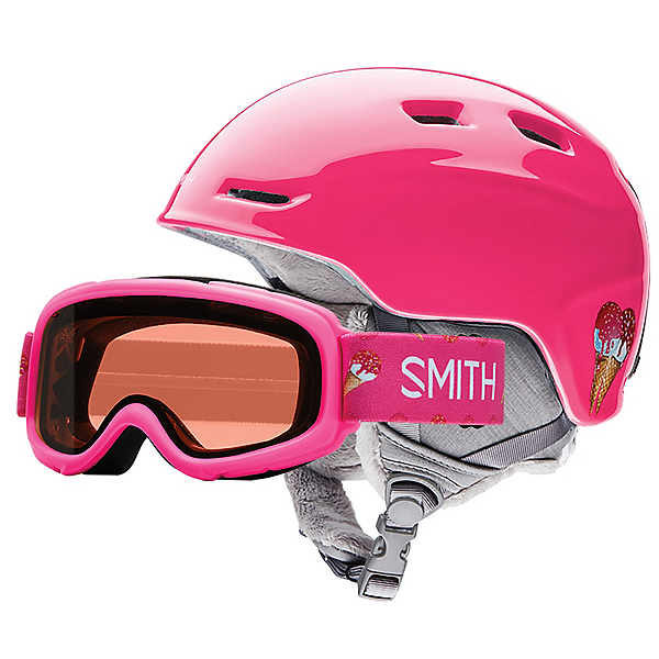 Smith Zoom Jr. and Gambler Combo Kids Helmet, Pink Sugarcone, 600