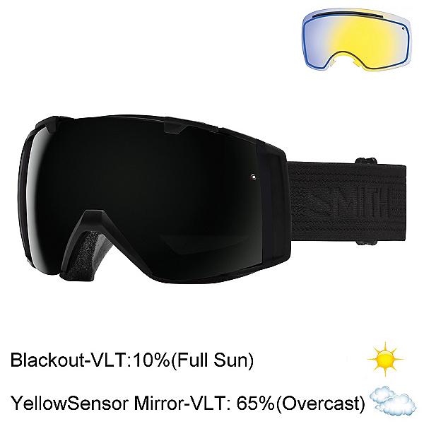 Smith I/O Goggles 2017, Black-Blackout + Bonus Lens, 600
