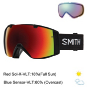 Smith I/O Goggles 2017, Black-Red Sol X Mirror + Bonus Lens, medium
