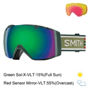 Smith I/O Goggles 2017, Forest Woolrich-Green Sol X Mi + Bonus Lens, medium