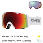 Smith I/O Goggles 2017, White-Red Sol X Mirror + Bonus Lens, medium