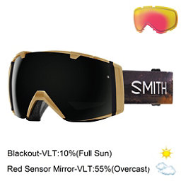 Smith I/O Goggles 2017, Prairie Buffalo-Blackout + Bonus Lens, 256
