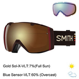 Smith I/O Goggles 2017, Morel Sunset-Gold Sol X Mirror + Bonus Lens, 256