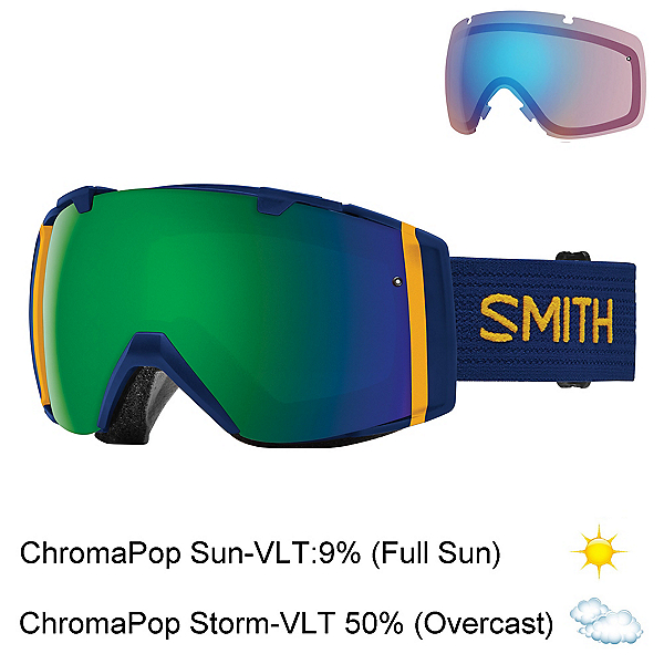 Smith I/O Goggles, Navy Scout-Chromapop Sun + Bonus Lens, 600