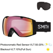 Smith I/O Photochromatic Goggles 2017, Black-Photochromic Red Sensor + Bonus Lens, medium