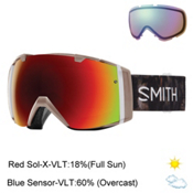 Smith I/O Womens Goggles 2017, Angel Id-Red Sol X Mirror + Bonus Lens, medium