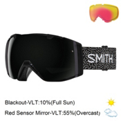 Smith I/O Womens Goggles 2017, Black New Wave-Blackout + Bonus Lens, medium