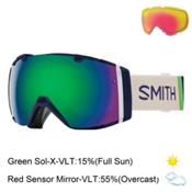 Smith I/O Womens Goggles 2017, Midnight Brighton-Green Sol X + Bonus Lens, medium