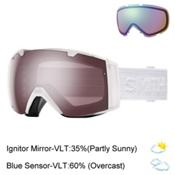 Smith I/O Womens Goggles 2017, White Eclipse-Ignitor Mirror + Bonus Lens, medium