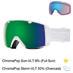 Smith I/O Womens Goggles 2017, White Eclipse-Chromapop Sun + Bonus Lens, 256