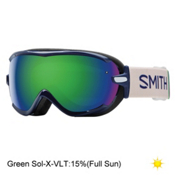 Smith Virtue Womens Goggles 2017, Midnight Brighton-Green Sol X, medium