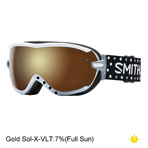 Smith Virtue Womens Goggles 2017, White Dots-Gold Sol X Mirror, 600