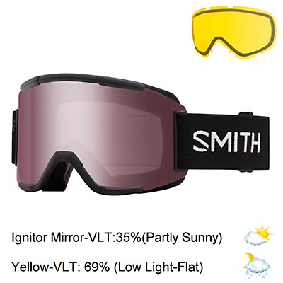 Smith Squad Goggles 2017, Black-Ignitor Mirror + Bonus Lens, viewer