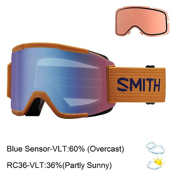 Smith Squad Goggles, Cargo-Blue Sensor Mirror + Bonus Lens, 600