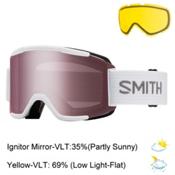 Smith Squad Goggles 2017, White-Ignitor Mirror + Bonus Lens, medium