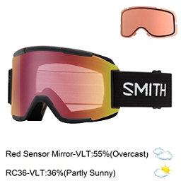 Smith Squad Goggles 2017, Black-Red Sensor Mirror + Bonus Lens, 256