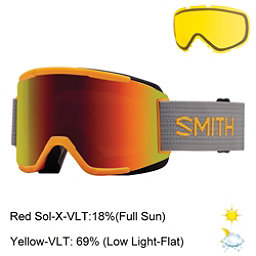 Smith Squad Goggles 2017, Solar-Red Sol X Mirror + Bonus Lens, 256