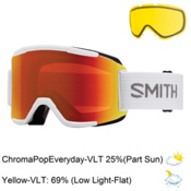 Smith Squad Goggles 2017, White-Chromapop Everyday + Bonus Lens, medium
