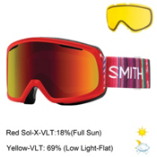 Smith Riot Womens Goggles 2017, Sriracha Cuzco-Red Sol X Mirro + Bonus Lens, medium