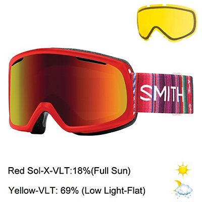 Smith Riot Womens Goggles 2017, Sriracha Cuzco-Red Sol X Mirro + Bonus Lens, viewer