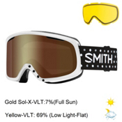 Smith Riot Womens Goggles 2017, White Dots-Gold Sol X Mirror + Bonus Lens, medium