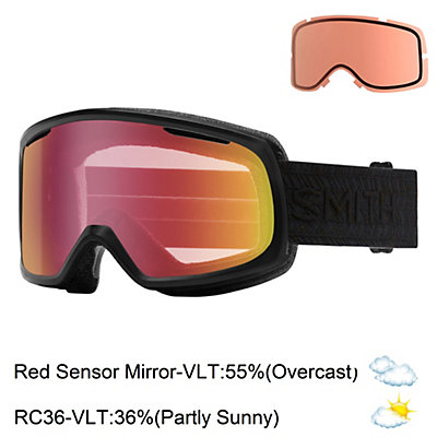 Smith Riot Womens Goggles, Sriracha Cuzco-Red Sol X Mirro + Bonus Lens, viewer