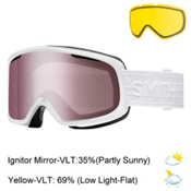 Smith Riot Womens Goggles 2017, White Eclipse-Ignitor Mirror + Bonus Lens, medium
