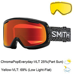 Smith Riot Womens Goggles 2017, Black New Wave-Chromapop Every + Bonus Lens, 256