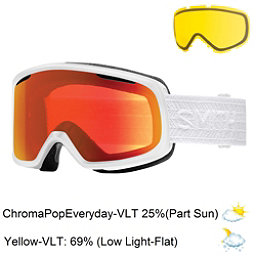 Smith Riot Womens Goggles 2017, White Eclipse-Chromapop Everyd + Bonus Lens, 256