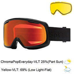 Smith Riot Womens Goggles 2017, Black Eclipse-Chromapop Everyd + Bonus Lens, 256