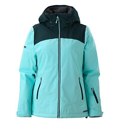 Marker Pandemonium Womens Insulated Ski Jacket, Ice Blue, viewer