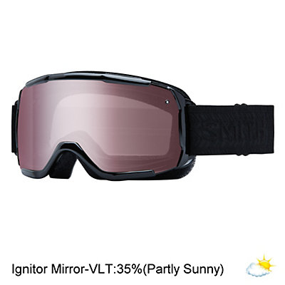 Smith Showcase Womens OTG Goggles 2017, Black Eclipse-Ignitor Mirror, viewer