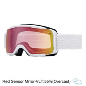 Smith Showcase Womens OTG Goggles 2017, White Eclipse-Red Sensor Mirro, medium