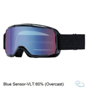 Smith Showcase Womens OTG Goggles 2017, Black Eclipse-Blue Sensor Mirr, medium