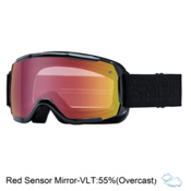 Smith Showcase Womens OTG Goggles, Black Eclipse-Red Sensor Mirro, medium